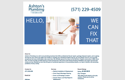 Ashton Plumbing Website