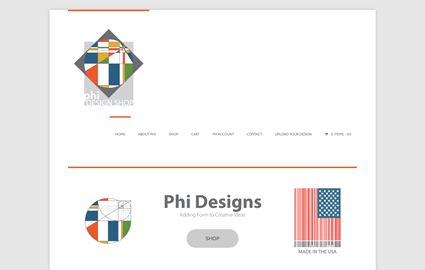 Phi Design Shop Website